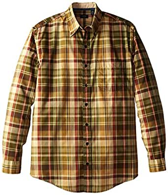 arrow men 39 s big tall long sleeve medium plaid