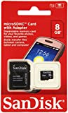 SanDisk microSDHC 8GB Speicherkarte (inkl. microSD zu SD Adapter)