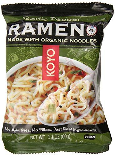 Koyo Ramen, Garlic Pepper, 2.1 Ounce (Pack of 12) (Ramen Noodle Chili compare prices)
