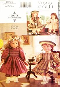 """OOP Vogue Craft Pattern 9965. Smocked, Etc Party Dresses for 18"""" Doll Such As The American Girl Dolls. Vogue Doll Collection"""