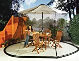 Lawn & Patio - Umbrella Mosquito Net Canopy Patio Set Screen House WHT