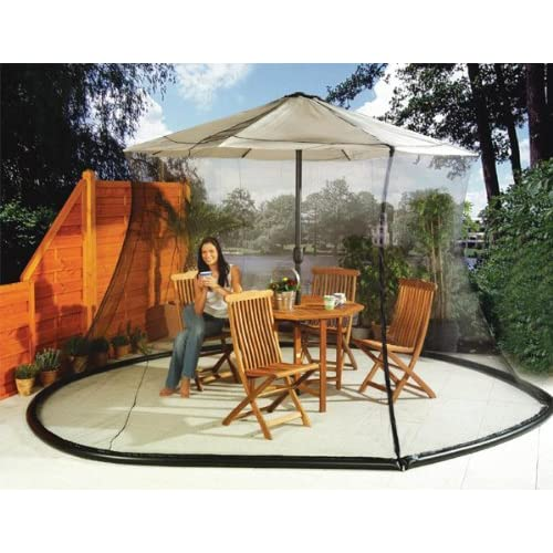 umbrella mosquito net canopy patio set screen