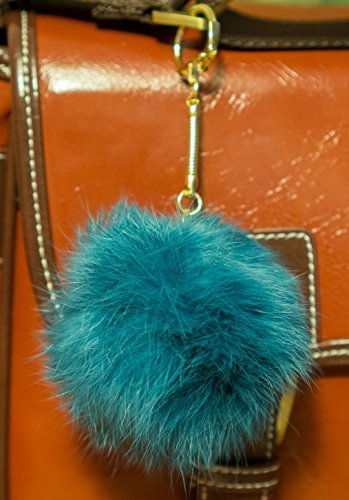 3-for-2-ocean-8cm-gold-metal-clasp-keyring-pompom-keychain-ball-real-fur-8cm-monster-soft-fluffy-cha