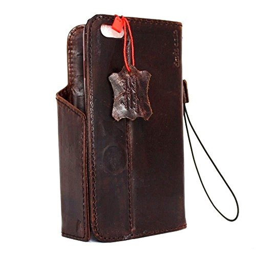 Genuine Italian Oiled Leather Case for Iphone 6 Plus + Book Wallet Handmade Business Luxury with Starp (Italian Leather Cell Phone Case compare prices)