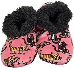 Lazy One Womens Fuzzy Feet Slippers - Cat Nap