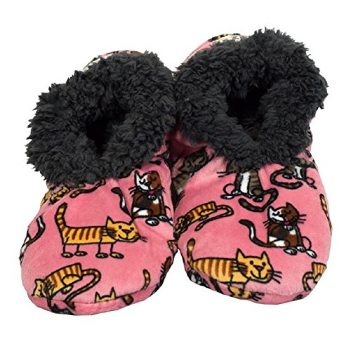 Lazy One Womens Fuzzy Feet Slippers - Cat Nap (Large/XLarge) (Lazy One Fuzzy Feet compare prices)