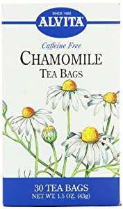 Alvita Teas Bags, Organic Chamomile, Caffeine Free, 24 tea bags(Pack of 3)