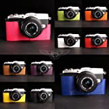 10 Colors! Handmade Genuine Camera Half Leather Case Bag Cover for Olympus E-P5 (please leave seller a note which color you prefer)