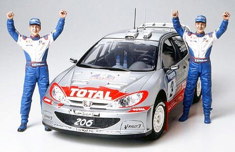 #24262 Tamiya Peugeot 206 WRC 2002 1/24 Plastic Model Kit,Needs Assembly