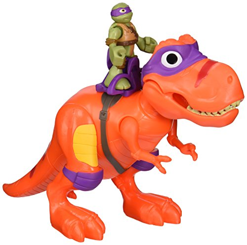 Teenage Mutant Ninja Turtles Pre-Cool Half Shell Heroes T-Rex with Donatello Vehicle and Figure (Ninja Turtles Toy)
