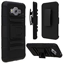 buy Grand Prime Case, Galaxy Grand Prime Holster Case, Sgm (Tm) Hybrid Dual Layer Combo Armor Defender Protective Case With Kickstand + Belt Clip Holster For Samsung Galaxy Grand Prime (Black)