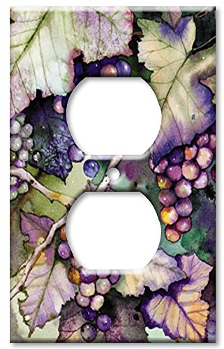 Art Plates - Grapes and Leaves Switch Plate - Outlet Cover (Grape Light Switch Cover compare prices)