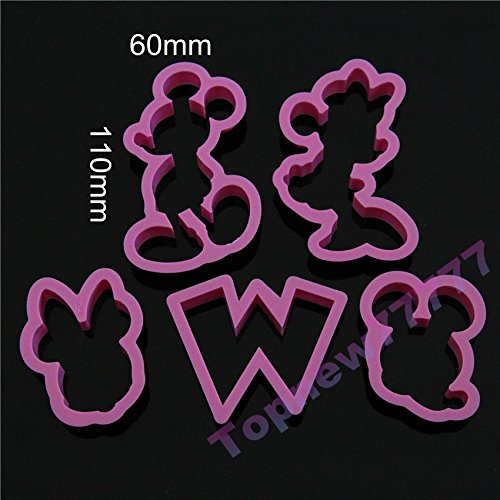 5pcs/set Cartoon Mickey Mouse Candy Cookies Cutter Mold Fondant Chocolate Embossing Mold (Name Plate Cookie Cutter compare prices)