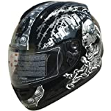 DOT Full Face Street Motorcycle Helmet Black F34 Size Large