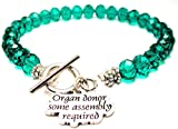 Organ Donor Some Assembly Required Crystal Toggle Bracelet in Emerald Green