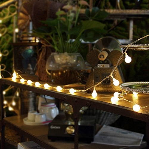 Innoo Tech Led String Lights Globe,100 Led Indoor Christmas Lights 31V Safety Warm White Fairy ...
