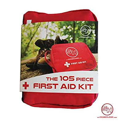 Tactical First Aid Kit: Survival Hax 105 Piece Emergency First Aid Kit from Survival Hax