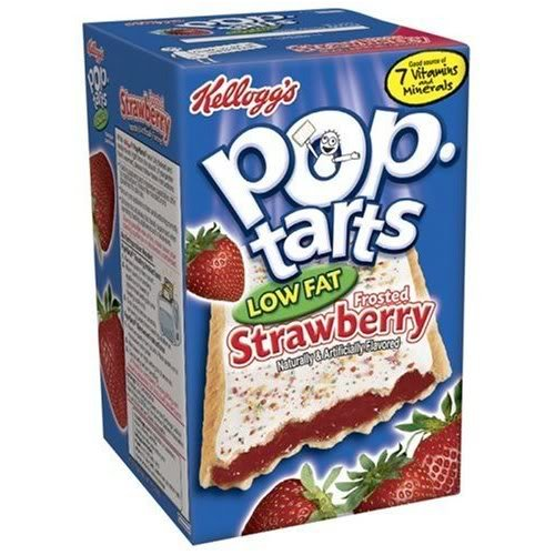 Kellogg's Pop-Tarts Strawberry Low-Fat, 8-Count Box (Pack of 6)