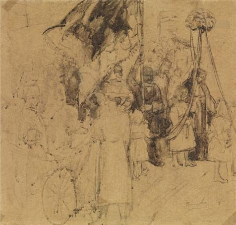 the-perfect-effect-canvas-of-oil-painting-the-procession-by-constant-permeke-size-16x17-inch-41x43-c