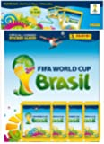 FIFA WM 2014 Sticker Hardcover Starterset Deluxe (Album + 4 Tüten) [Import allemand]