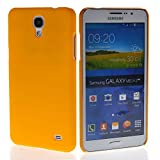 MOONCASE Hard Rubber Coating Back Case Cover for Samsung Galaxy Mega 2 G7508Q Yellow