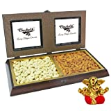 Chocholik Premium Gifts - Amazing Dry Fruit Combination With Small Ganesha Idol - Gifts For Diwali