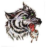 Temporary Tattoo Stickers Watertight Male Wolf Head Totem