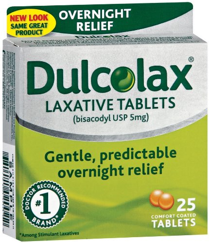 Dulcolax Laxative, 25-Count Comfort Coated Tablets (Pack of 2)