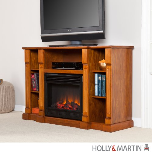 Murdock Media Electric Fireplace - Glazed Pine image B009PRYB1S.jpg