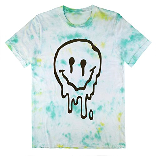 Killer Condo Melted Smiley Face Pastel Unisex Tie Dye T-Shirt Large (Grunge Tie Dye compare prices)