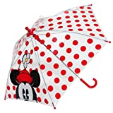 Disney Store Girls' Classic Minnie Mouse Umbrella Red