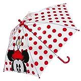 Disney Store Girls' Classic Minnie Mouse Umbrella Red