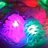 Garnished Modern Pine Cone 5M LED Nightlight String Lamp Xmas Tree Christmas Holiday Color Multicolor 110V with US Plug