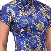 チャイナ服 チャイナドレス 5サイズ有り 半袖ロング 半袖ショート 袖無しロング c08コスプレ コスチューム衣装 メイド AKBアキバ 女子高生 セーラー服 半袖ロング サイズ:32