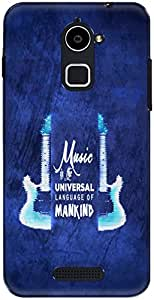 The Racoon Lean printed designer hard back mobile phone case cover for Coolpad Note 3 Plus. (Musical)