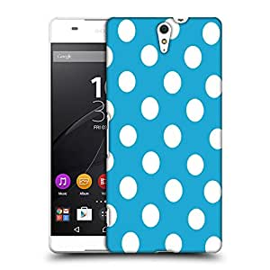 Snoogg Blue Polka Dot Designer Protective Back Case Cover For Sony Xperia C5 Ultra