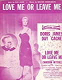 Love Me Or Leave Me Sheet Music Doris Day