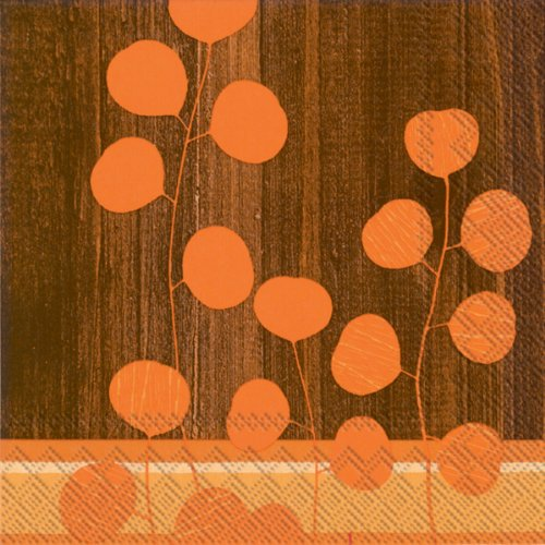 Ideal Home Range 20 Count Decorative Paper Napkins, Luncheon, Woodhouse Orange