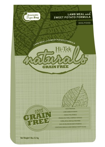 Hi-Tek Naturals Grain Free Lamb Meal and Sweet Potato Formula Dry Dog Food, 5 Pounds