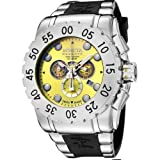 Invicta Men's 6656 Reserve Collection Chronograph Stainless Steel Black Rubber Watch