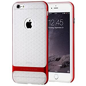 ROCK Royce II Series Shockproof Dual Layer Back Case Cover for Apple Iphone 6 Plus / 6S Plus - Red