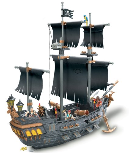 Mega Bloks  Pirates of the Caribbean 3 Deluxe Ship -Black Pearl