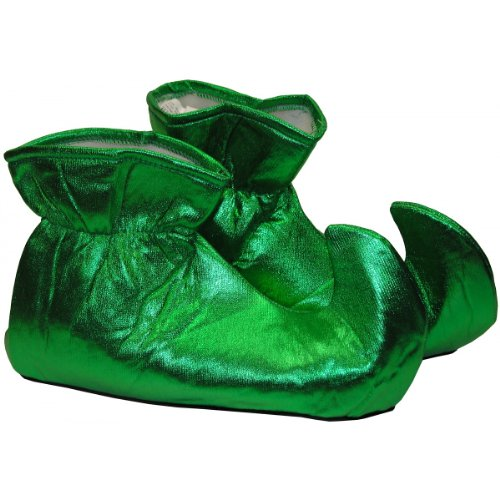 Adult Christmas Elf Costume Shoes (Size:Large)