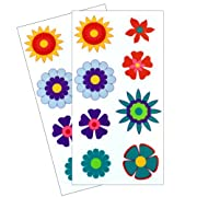 Dishwasher Safe Flower Stickers - 2 Sheets