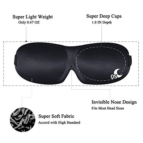 Sleep-Mask-Light-Blocking-Eye-Mask-for-Sleeping-Features-Memory-Foam-Insomnia-Aid-Includes-Carry-Pouch-and-Ear-Plugs-For-Travel-Shift-Work-Meditation-Migraines-by-Quiet-Sound