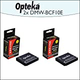 2 Pack Opteka DMW-BCF10E 1500mAh Ultra High Capacity Li-ion Battery Pack For Panasonic Lumix DMC-FS12 DMC-FS15...