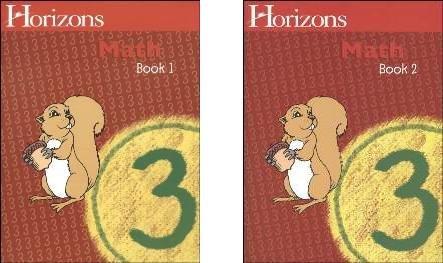 Horizons Math 3 Set Of 2 Student Workbooks 3-1 And 3-2