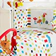 Red Kite Safari Cosi Cot 4 Piece Bedding Set