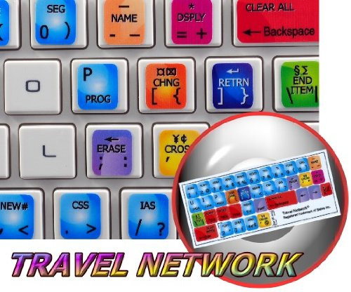 NEW SABRE Trekking NETWORK STICKERS FOR KEYBOARD FOR DESKTOP, LAPTOP AND NOTEBOOK