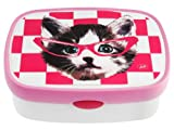 JIP Funky Head Cat ABS Lunch box, Pink